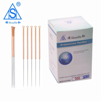 Copper Handle Acupuncture Needle with Tube