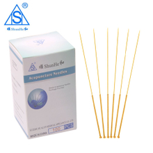 Gold Plated Acupuncture Needle with Tube Aluminium Foil Package 100pcs/box